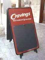 Craving's Sandwich Board Sign