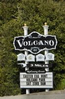 Volcano Entrance Sign