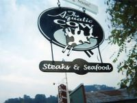 Aquatic Cow Hanging Sign