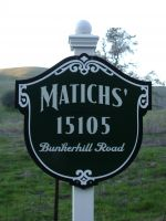 Matich Driveway Sign