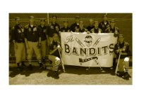 Bandits Hand Painted Cloth Banner