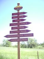 Amador Wineries Directional @ Latrobe