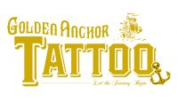 Golden Anchor Tattoo