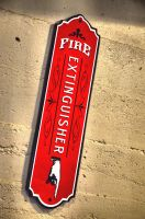 Custom Fire Extinguisher Sign