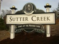 Sutter Creek Entry Sign