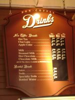 Menu Sign with changeable price option