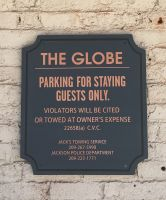 GLOBE PARKING SIGNS
